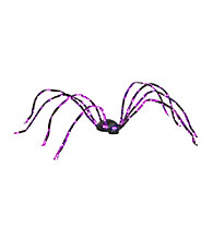 8' Purple Energy-Efficient LED Lighted Spider