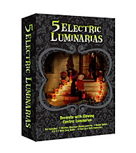 Set of 5 Electric Pumpkin Luminaries