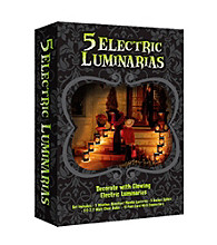 Set of 5 Electric Luminaria Kit- Jack O'Lantern
