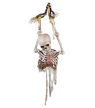 Hanging Skeleton Torso in Chains