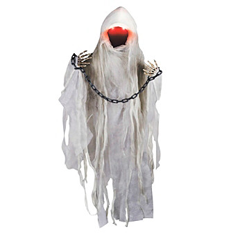 Hanging Faceless Ghoul Animated Prop