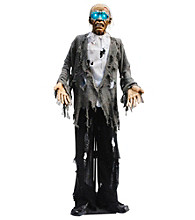 Standing Zombie With Light-Up Eyes Animated Prop