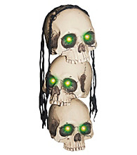 Light Up Stacked Skulls