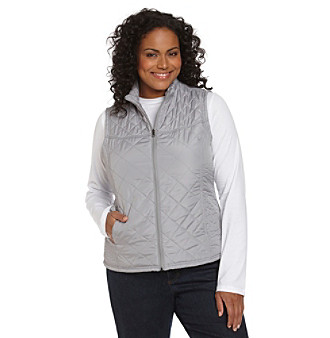Relativity® Plus Size Quilted Vest