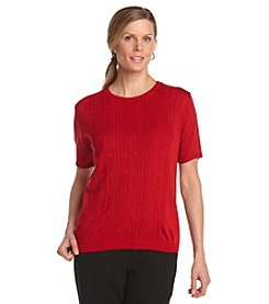 Alfred Dunner® Short Sleeve Sweater