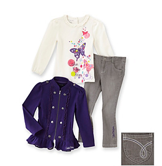 Calvin Klein Jeans® Girls' 2T-6X Purple 3-pc. Jacket Set