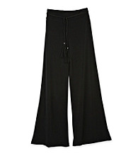 Amy Byer Girls' 7-16 Plus Size Black Wide-leg Pants