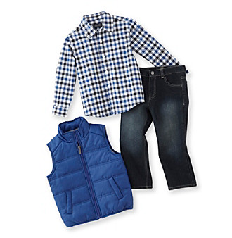 Kenneth Cole® Boys' 2T-7 Blue/Black 3-pc. Vest Set