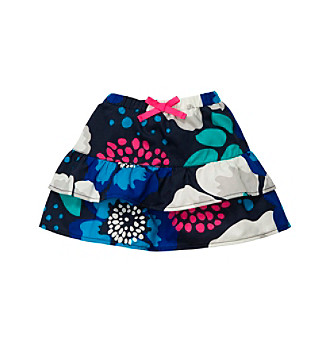 OshKosh B'Gosh® Girls' 2T-4T Blue Floral Woven Skirt