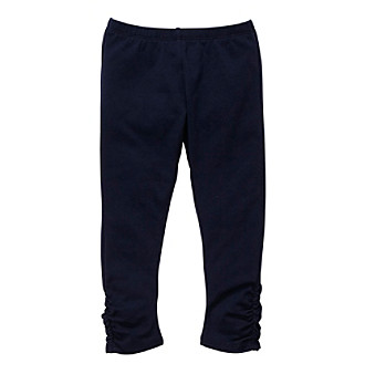Oshkosh B'Gosh® Girls' 2T-6X Navy Ruched Leggings