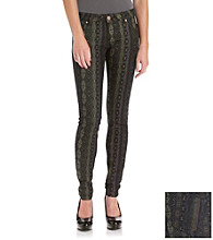 Fire® Juniors' Tribal-Print Skinny Jeans