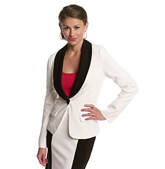 Sequin Hearts® Juniors' Colorblocked Tuxedo Jacket