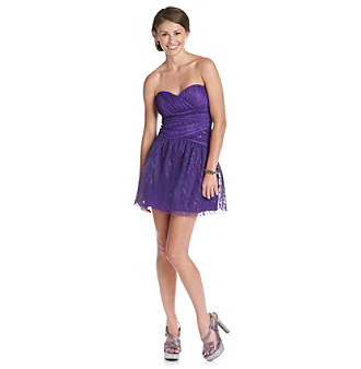 A. Byer Juniors' Purple Glitter Party Dress