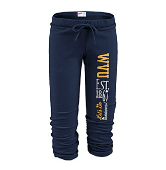 Soffe® Juniors' West Virginia Football Capri Sweatpants