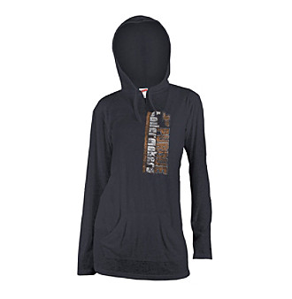 Soffe® Juniors' Purdue Black Burnout Hoodie