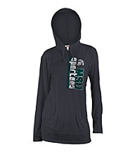 Soffe® Juniors' Michigan State Black Burnout Hoodie