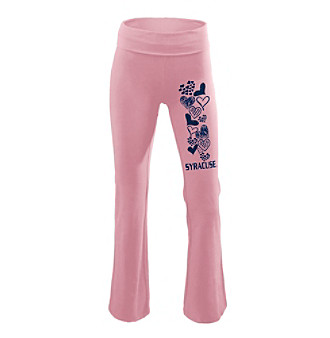Soffe® Juniors' Syracuse Pink Glitter Screen Yoga Pants