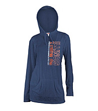 Soffe® Juniors' Illinois Navy Burnout Hoodie