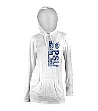 Soffe® Juniors' Penn State White Burnout Hoodie