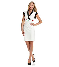 Calvin Klein Contrast Color Sheath with Belt
