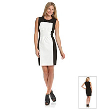 Calvin Klein Sleeveless Colorblock Sheath