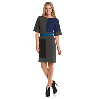 Anne Klein® Colorblock Sweater Dress
