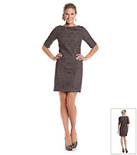 Adrianna Papell® Bateau Neck Crochet Dress