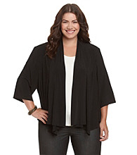 R & M Richards® Plus Size Drapefront Shrug