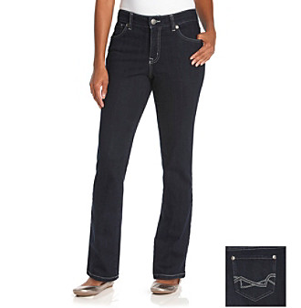 Nine West Vintage American Collection Petites' Dark Water Boho Straight Leg Jeans Women's