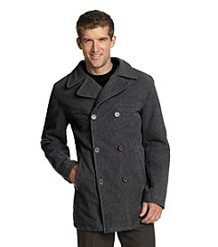 Excelled Sheepskin Men's Faux Wool Peacoat