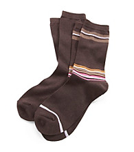 Relativity® 2-pk. Bamboo Stripe Socks