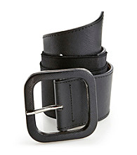 Nine West® Square Covered Buckle Stretch Belt