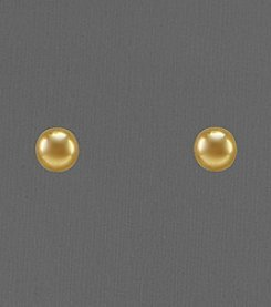 14K Yellow Gold Polished 4mm Ball Stud Earrings