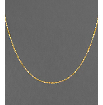 14K Yellow Gold Twisted Singapore Chain Necklace