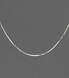 14K White Gold Box Chain Necklace