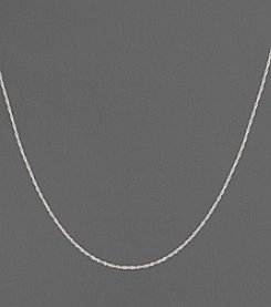 14K White Gold Perfectina Chain Necklace