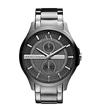 A|X Armani Exchange Men's Stainless Steel Smoke Bracelet Watch with a Grey Dial & Eyes