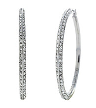 Vince Camuto™ Pave Knife Edge Hoop Earrings