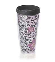 Design for Living™ Cheetah & Flower Sliding Tumbler
