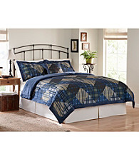 Bristol Harbor Cold-Weather Plush-Reverse Comforter Set by Ruff Hewn