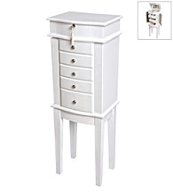 Mele & Co. White Aspen Jewelry Armoire