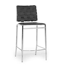 Baxton Studios Set of 2 Vittoria Leather Modern Counter Stool