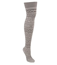 MUK LUKS® Pearl Battleship Patterned Tights