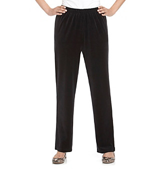 Breckenridge® Solid Pull-On Velour Pant