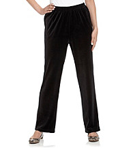 Breckenridge® Petites' Solid Pull-On Velour Pant