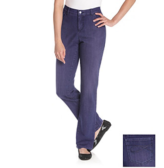 Gloria Vanderbilt® Ashley Straight-Leg Over-Dyed Denim Jean