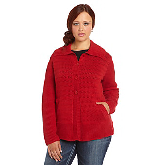 Jones New York Sport® Plus Size Four-Button Foldover Sweater