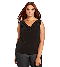 Calvin Klein Suits Plus Size Sleeveless Cowlneck Cami