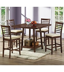 Baxton Studios Kelsey 5-pc. Modern Counter Height Dining Set
