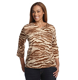 Alfred Dunner® Plus Size Sequin Top